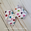 Rainbow Dot Hair Bow