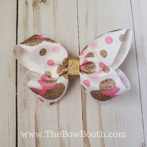Minnie Mouse Twisted Boutique Hair Bow
