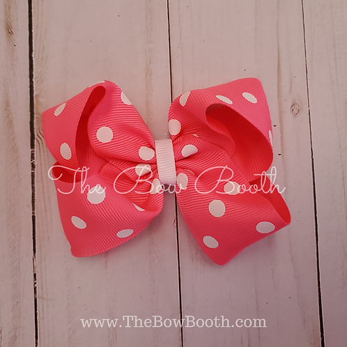 Polka Dot Twisted Boutque Hair Bow