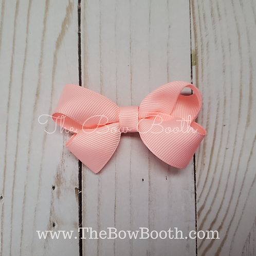 Small Solid Twisted Boutique Hair Bow