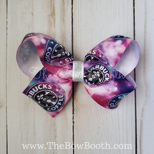 Galaxy Starbucks Twisted Boutique Hair Bow