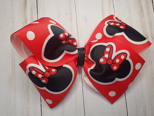 XXL Minne Mouse Twisted Boutique Hair Bow