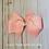 Pink Pinwheel Hair Bow