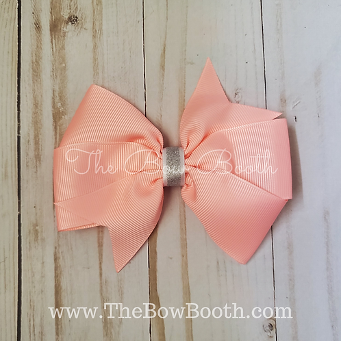 Solid & Sparkle Double Pinwheel Hair Bow