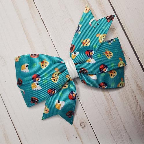 Animal Crossing Pinwheel Hair Bow