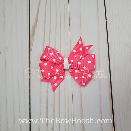 Pink Pattern Pinwheel Hair Bow