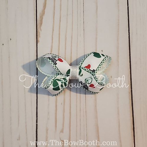 Small Girl Scout Twisted Boutique Hair Bow