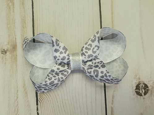 Brain Cancer Awareness Month Leopard Gray Bow