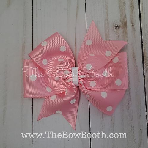 Polka Dot Double Pinwheel Hair Bow