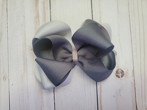 Brain Cancer Awareness Month Stacked Gray Bow