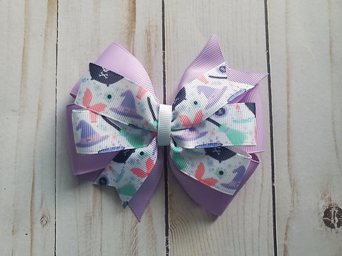 Cutesy Witch Stacked Pinwheel Hair Bow