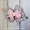 Thumbnail: Pink & Gray Stacked Pinwheel Hair Bow