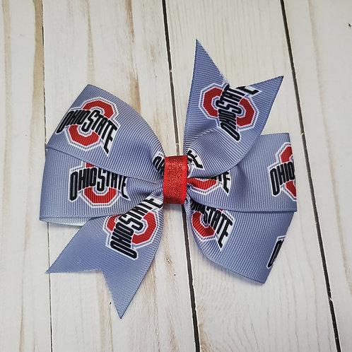 Ohio State Pinwheel Hair Bow