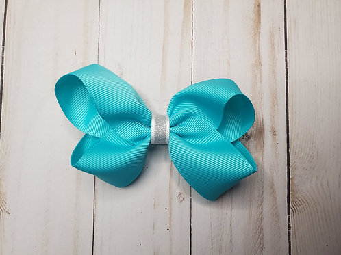 Solid & Sparkle Twisted Boutique Hair Bow