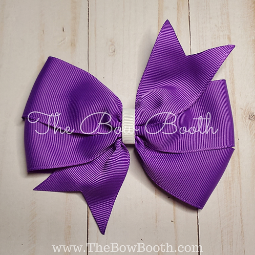 Solid Double Pinwheel Hair Bow