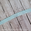 Light Blue Baby Toddler Fold Over Elastic Headband with Loop Hair Bow