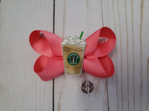 Small Starbucks Frappe Twisted Boutique Hair Bow