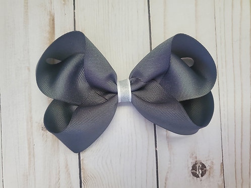 Brain Cancer Awareness Month Solid Charcoal Gray Bow