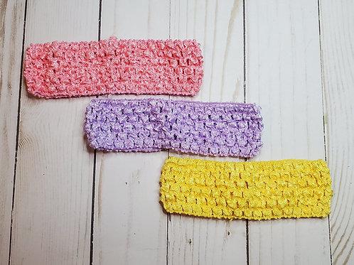 Crocheted Elastic Headbands