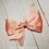 Thumbnail: Coral & Gold Single Pinwheel Hair Bow