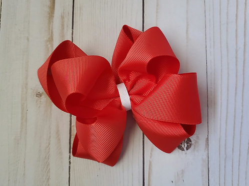 Solid Stacked Twisted Boutique Hair Bow
