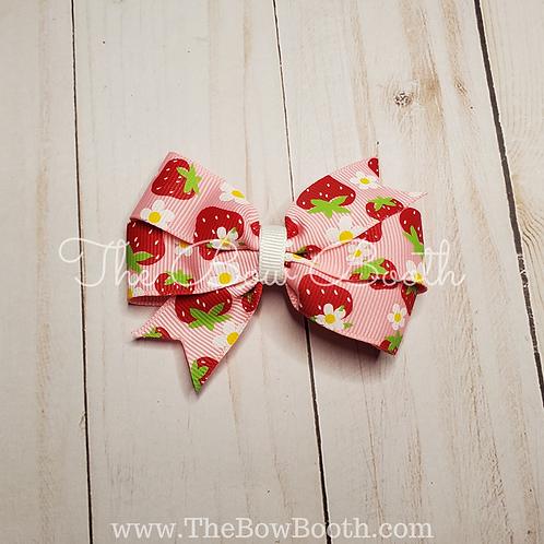 Fruit Pattern Pinwheel Hair Bow