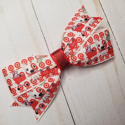 Target Dog Pinwheel Hair Bow