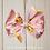 Pink Pinwheel Satin Hair Bow