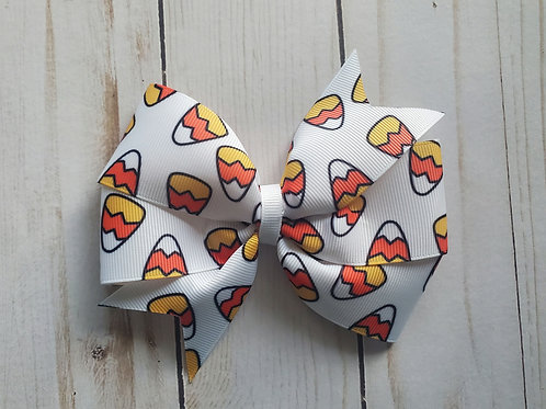 Candy Corn Pinwheel Hair Bow