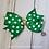 Green and Gold Polka Dot Single Pinwheel Hair Bow
