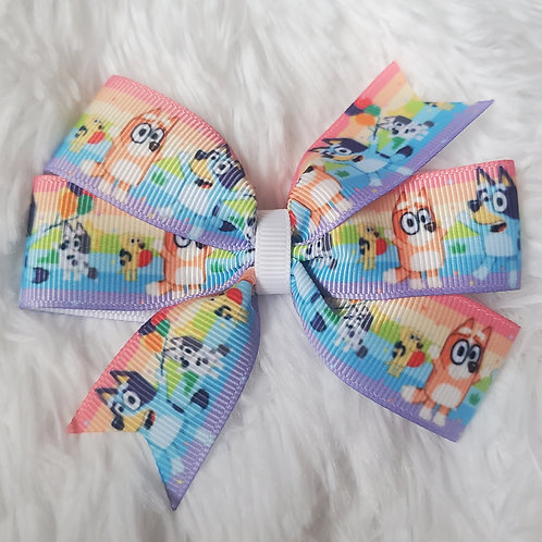 Bluey Pinwheel Hair Bow