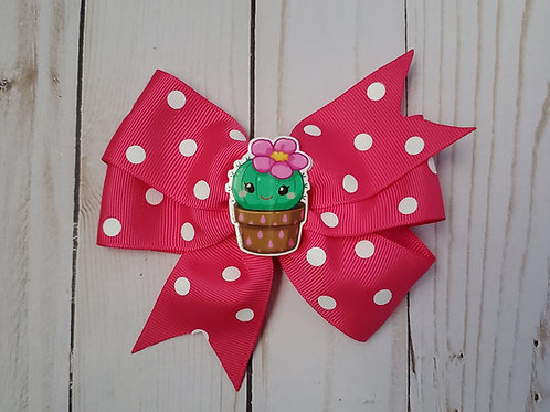 Cactus Double Pinwheel Hair Bow