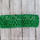 Green Crocheted Elastic Headband Loop Hair Bow