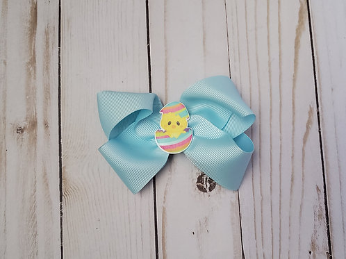 Easter Chick Twisted Boutique Hair Bow
