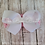 White Bow Pink Crocheted Elastic Headband Loop Hair Bow
