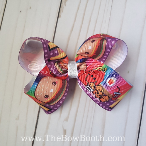 Cheeseburger & Nuggets Twisted Boutique Hair Bow