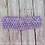 Ligh Purple Crocheted Elastic Headband Loop Hair Bow