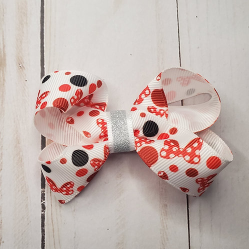 Minnie Mouse Bow Twisted Boutique Hair Bow