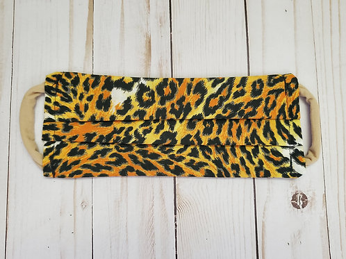 Leopard Print Adult Fabric Face Masks
