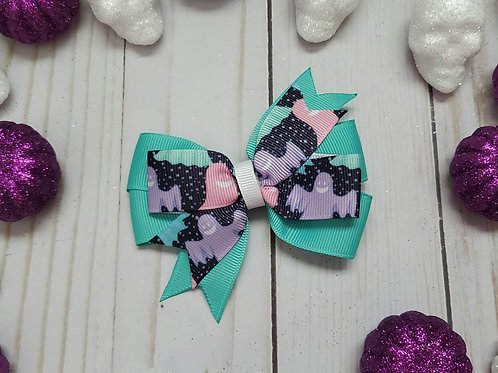 Adorable Ghosts Stacked Pinwheel Bow
