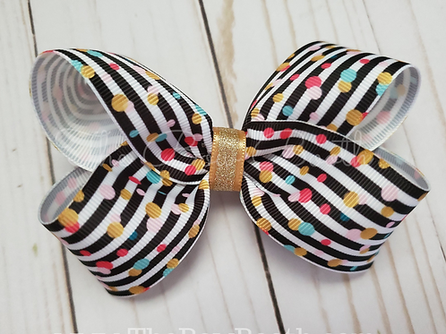 Stripe & Dot Twisted Boutque Hair Bow