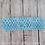 Light Blue Crocheted Elastic Headband Loop Hair Bow