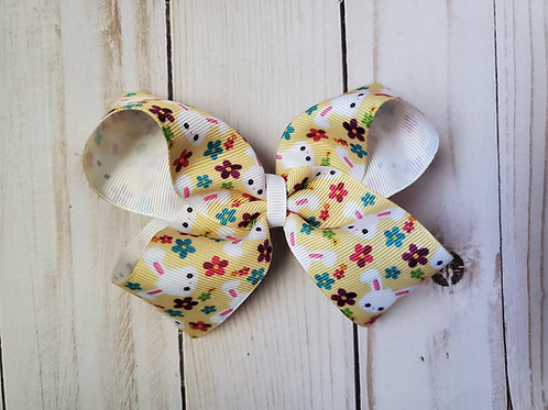 Easter Bunny Twisted Boutique Hair Bow