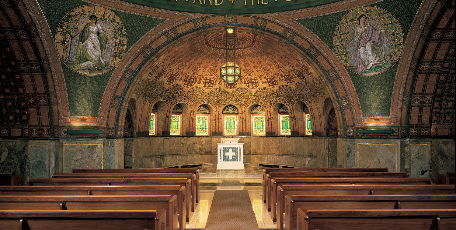 Interior of Lakewood Chapel
