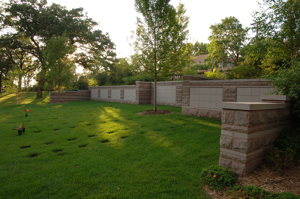 Columbarium Wall Side View