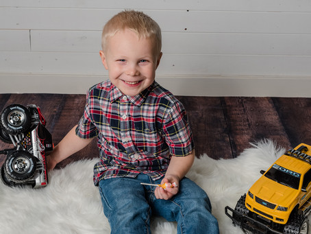 Colton is 4!