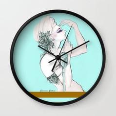maison-della-voce-turquoise-wall-clocks.
