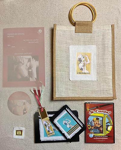 """Juta Bag grande 2 + Audio Book """"Si canta""""+ Note Book"""