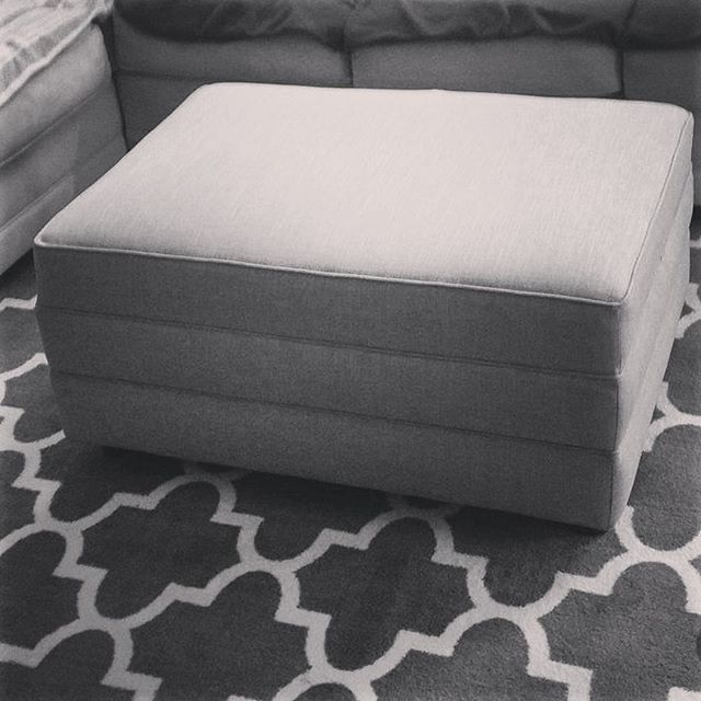 Custom Repinned ottoman #repinneddesign #repinned #design #decor #interiordesign #furnituredesign #f