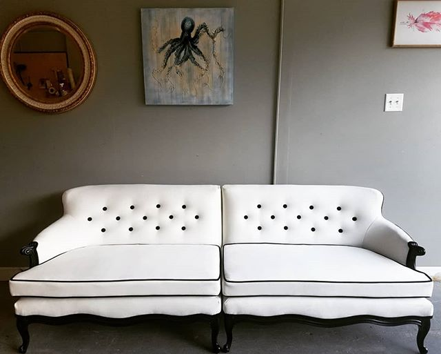 Complete!Tuxedo 2 piece sofa almost comp